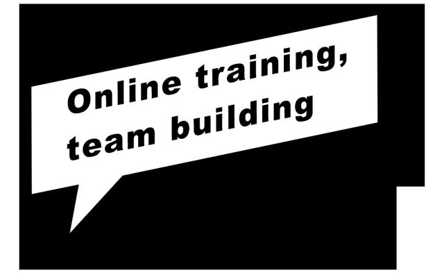 Online training, team building