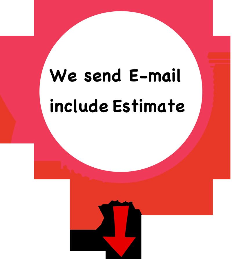We send E-mail include Estimate