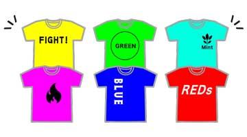 オンライン運動会のオリジナルTシャツ